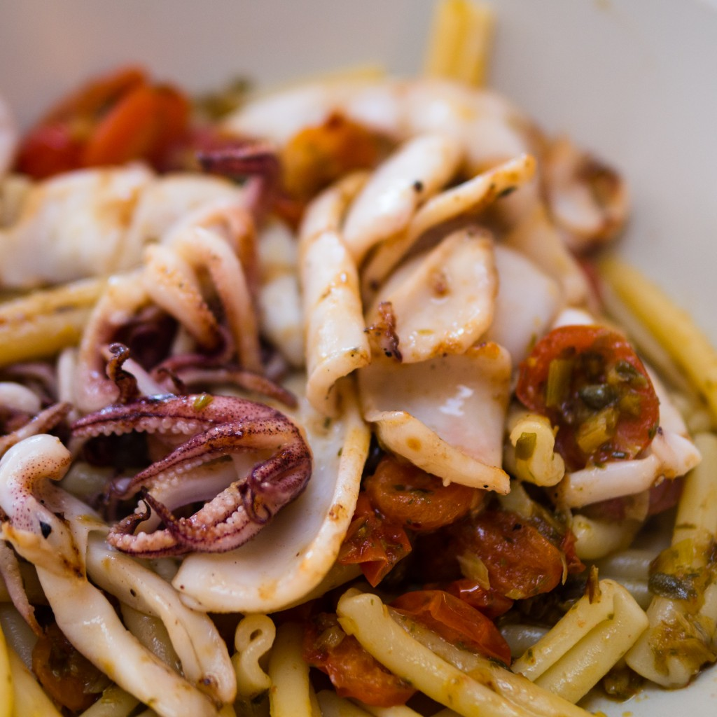 charred squid pasta