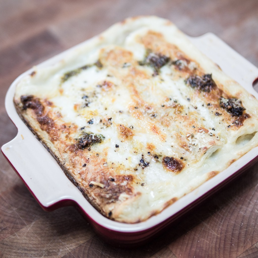 Spinach Cannelloni In Tomato And Mascarpone Sauces Recipe — Dishmaps