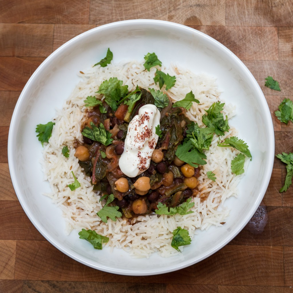 Swiss Chard chickpea and tamarind stew