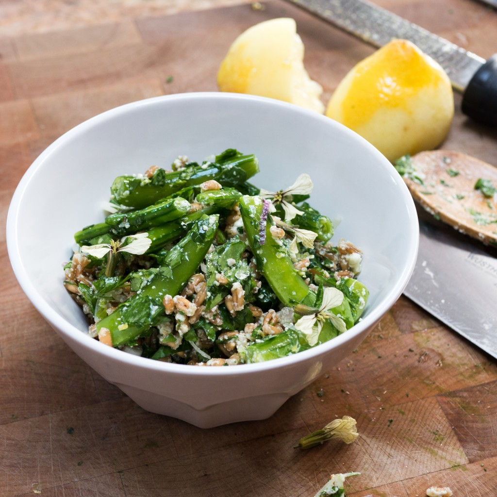 Sugar Snap Peas and Farro