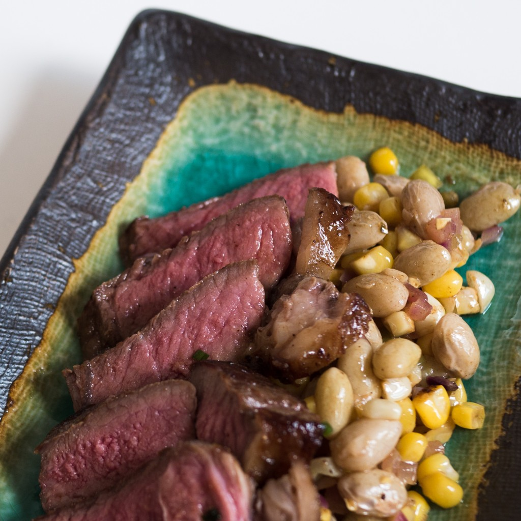 Steak and Succotash
