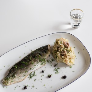 Hot Pickled Herring with Stampott