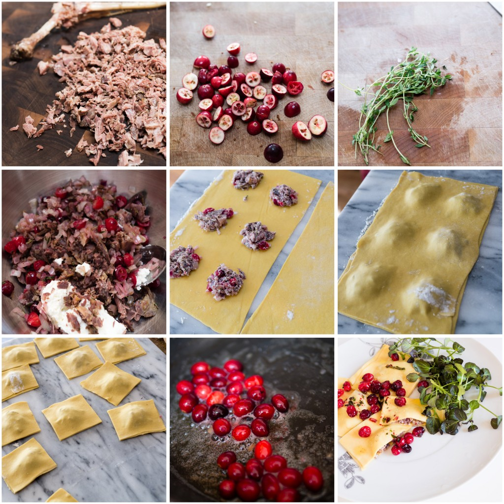 Making Confit Duck Ravioli with Cranberries