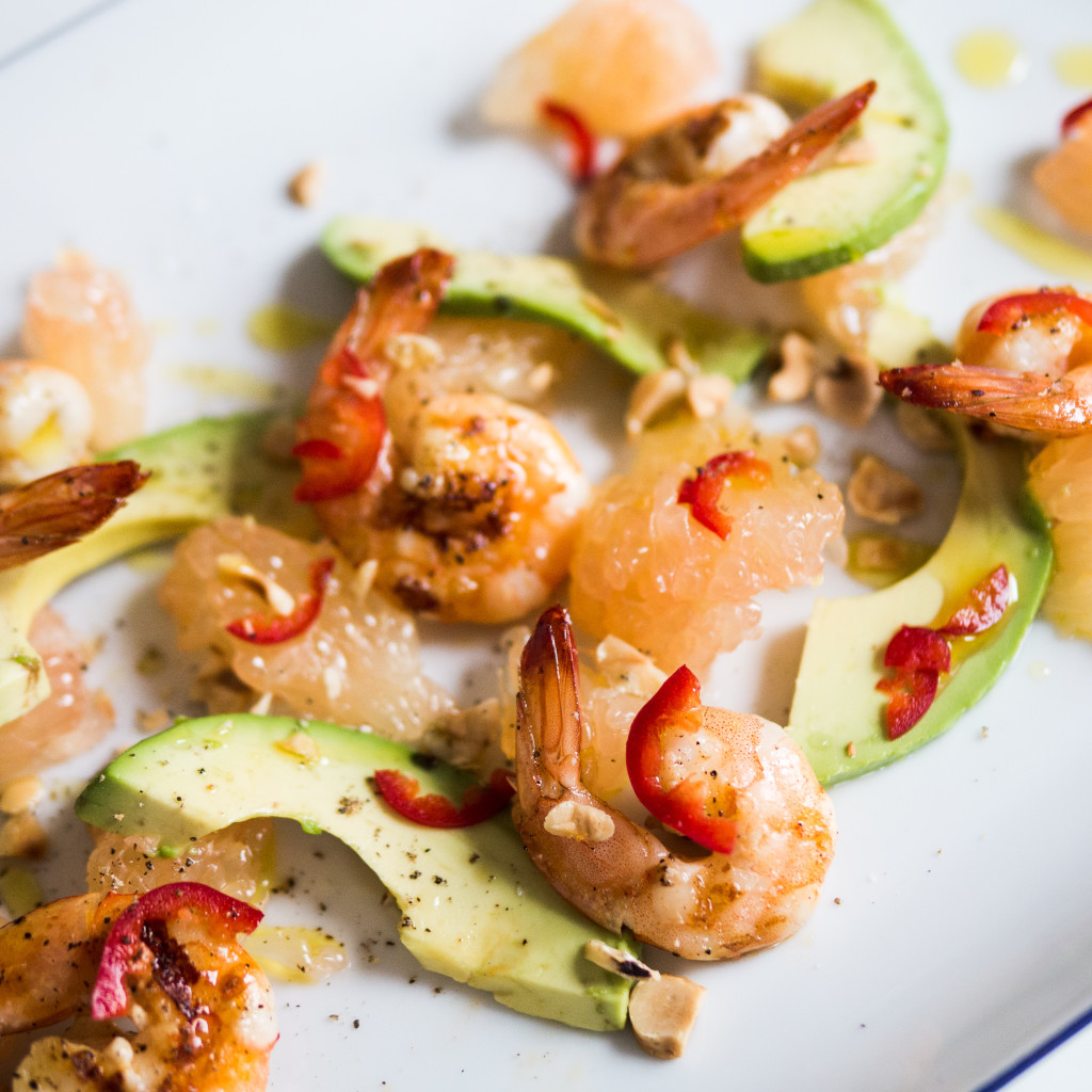 Shrimp Avocado and Grapefruit Salad
